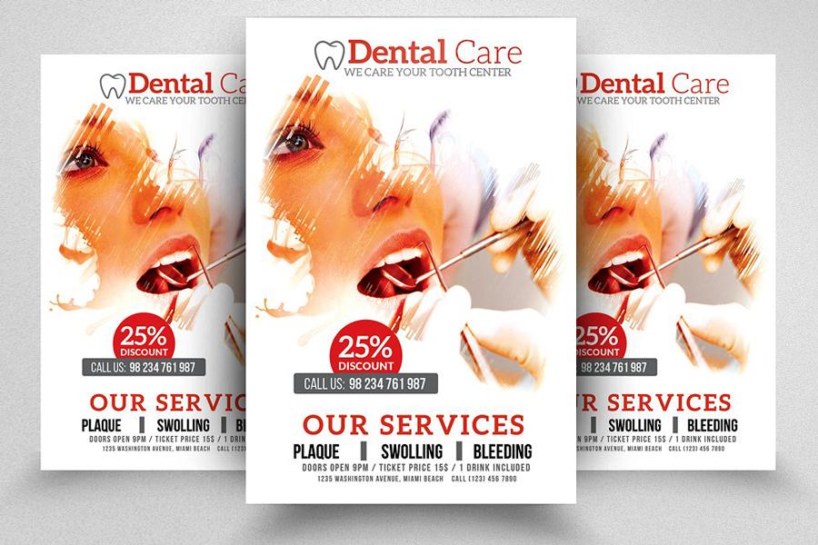 m119 - دانلود لایه باز تراکت یا پوستر دندانپزشکی و مراقبت دندان