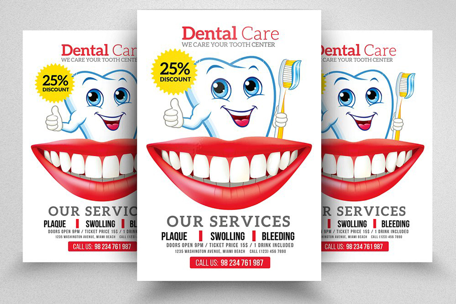 m121 - دانلود لایه باز تراکت یا پوستر دندانپزشکی و مراقبت دندان