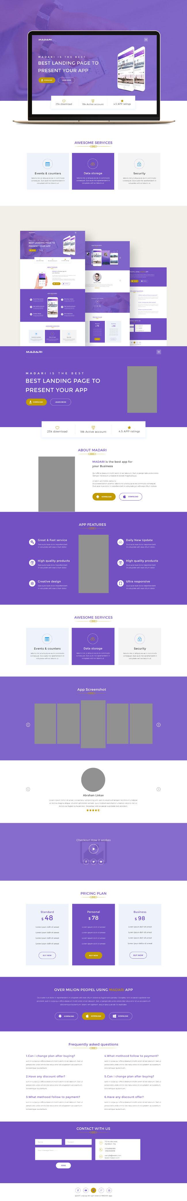 p434 - طرح آماده رایگان سایت خدمات شرکت تجاری بازرگانی وب نرم افزارهای اندرویدی و ios