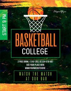p442 233x300 - طرح آماده پوستر ورزشی مسابقات بسکتبال سالن با تور توپ بسکتبال