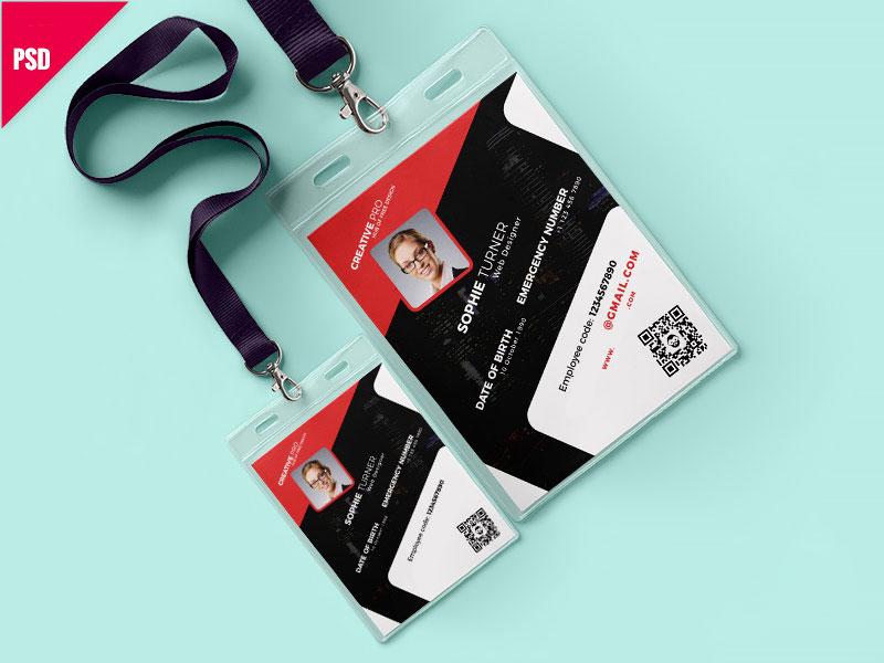 p457 - طرح آماده کارت آویز همایش و سمینار / کارت شناسایی کادر اجرایی همایش / مشکی و قرمز بسیار شیک