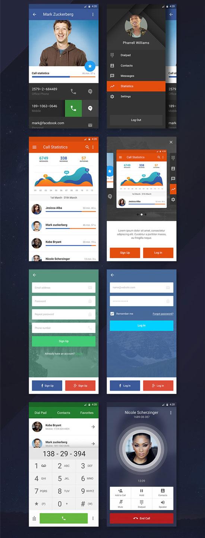 p544 - لایه باز گرافیک اپلیکیشن موبایل با صفحه لاگین و ریجستر فوق العاده زیبا / اینترفیس UX و UI موبایل اندورید و ios با صفحات کاربردی و متنوع