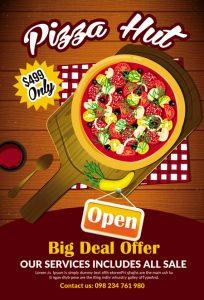 m229 204x300 - دانلود لایه باز تراکت یا پوستر فست فود و پیتزا و ساندویچ