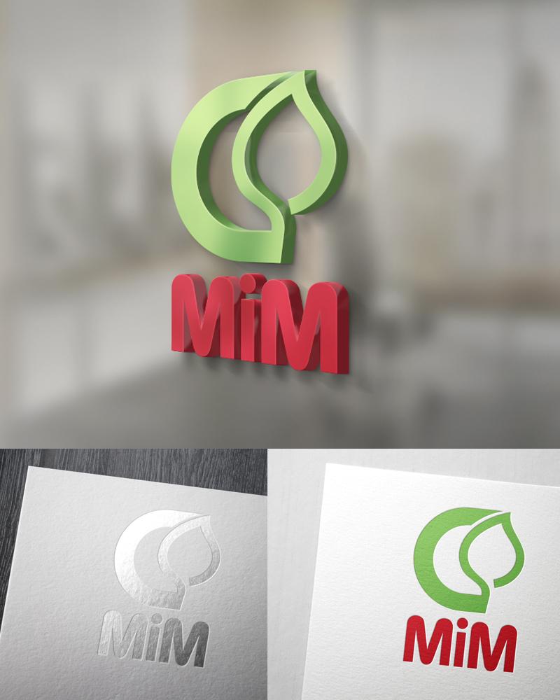 01 - لوگوی مدرن برگ سبز