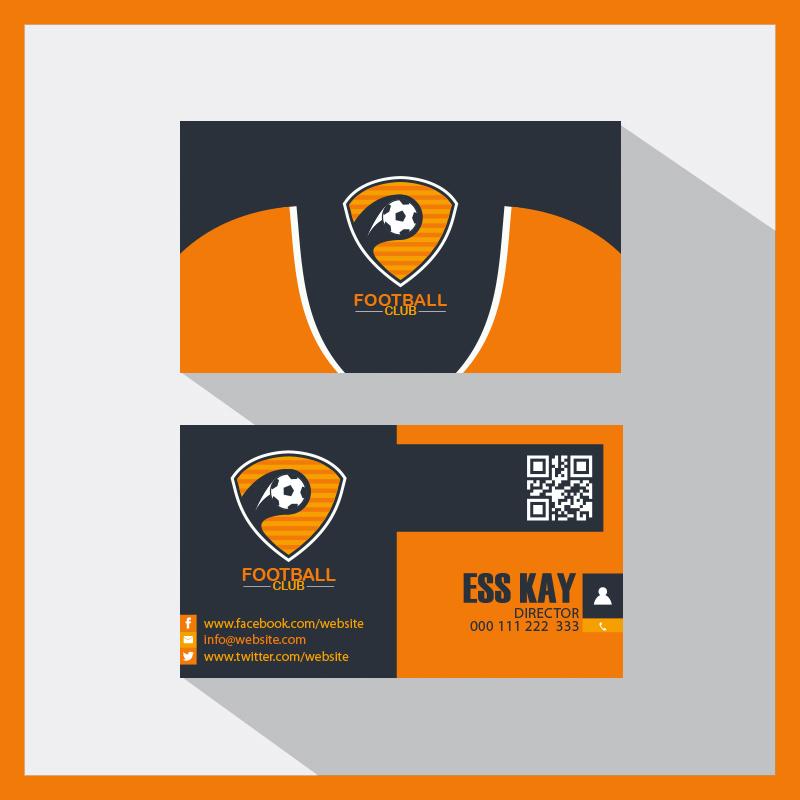 p704 - کارت ویزیت فوتبالی لایه باز با فرمت eps یا وکتور ویژه باشگاه فوتبال یا بسکتبال و ...