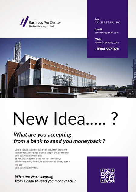 m364 - دانلود لایه باز تراکت یا پوستر ساختمان اداری یا کارخانه